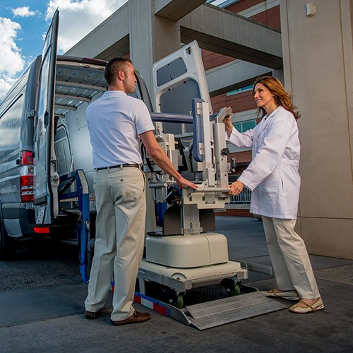 How does mobile diagnostic imaging work?
